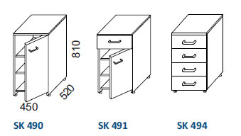 skrinky SK 490, SK 491, SK 494