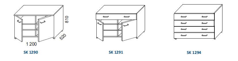 skrinky SK 1290, SK SK 1291, SK SK 1294