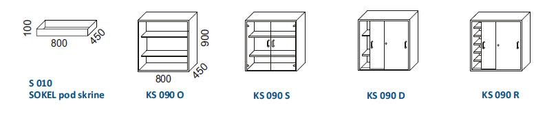 Skrine KS 090