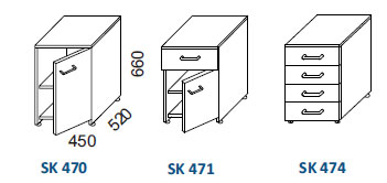 skrinky SK 470, SK 471, SK 474