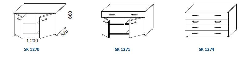 skrinky SK SK 1270, SK SK 1271, SK SK 1274